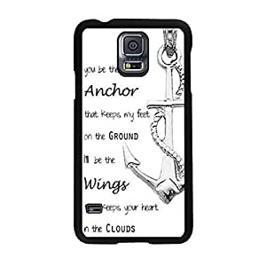 ABC(TM) New Anchor Quotes Back Hard Case Cover for Samsung Galaxy S5 I9600