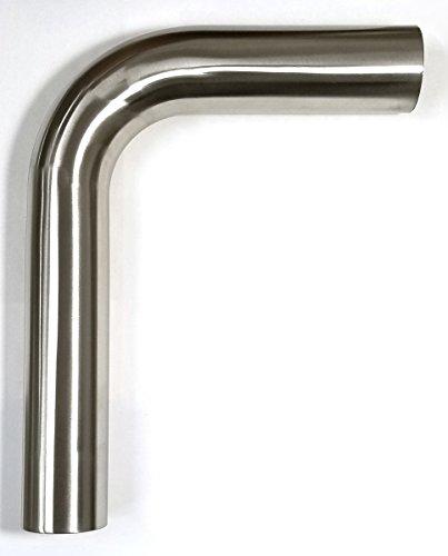 """2"""" Stainless 90° Mandrel Bend - 1.5D Loose Radius - 16GA/.065"""" Wall - 5"""" Leg/8"""" Leg - SS304"""