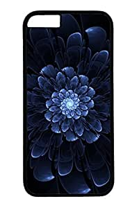 Cool Blue Flower Slim Hard Cover Case For Samsung Note 2 Cover PC Black Cases
