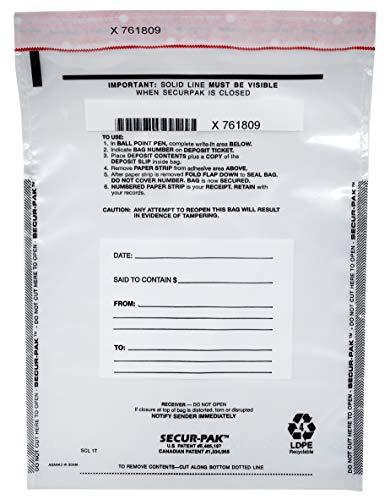 Secur-Pak Deposit Bags - Pack of 100-9