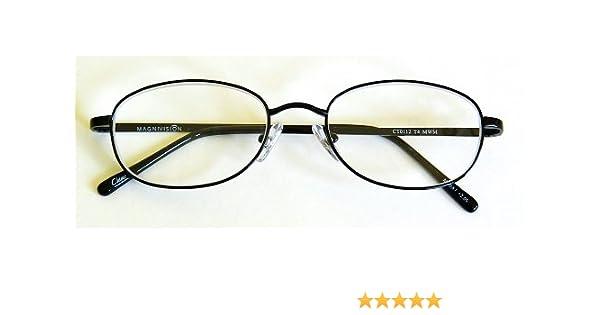 e2dff4c5f12e Amazon.com   Foster Grant +1.75 TITANIUM (T4) Black Oval Metal Wire Rim Reading  Glasses- M160 by Foster Grant   Beauty