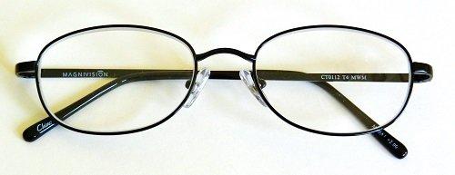 - (+ BONUS) Foster Grant +1.50 TITANIUM (T4) Black Oval Metal Wire Rim Reading Glasses + FREE BONUS MICRO-SUEDE CLEANING CLOTH