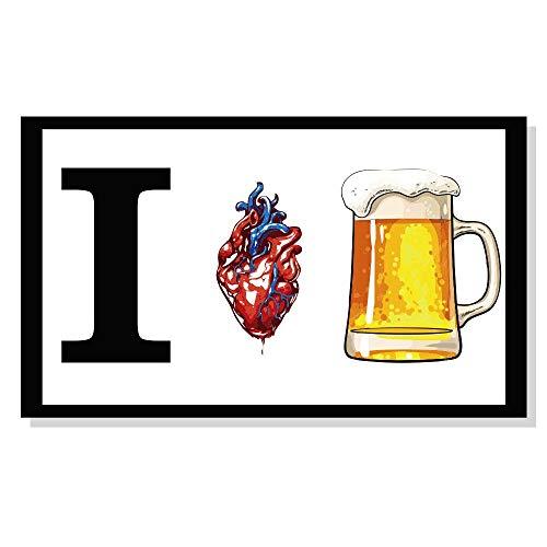 Quadro I love cerveja composto