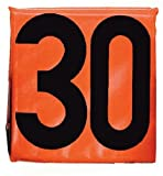 MARTIN SPORTS Football Sideline Markers, Weighted, Black/Orange