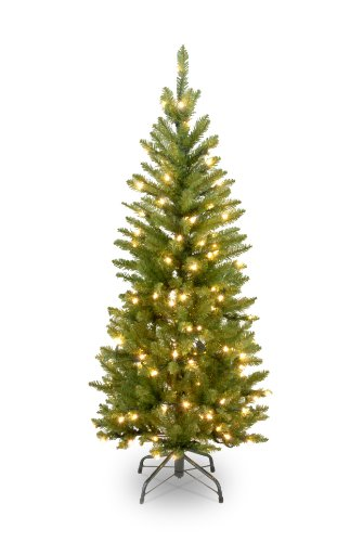 National Tree 4.5 Foot Kingswood Fir Pencil Tree with 150 Clear Lights (KW7-300-45) (Trees Pencil Christmas Artificial)