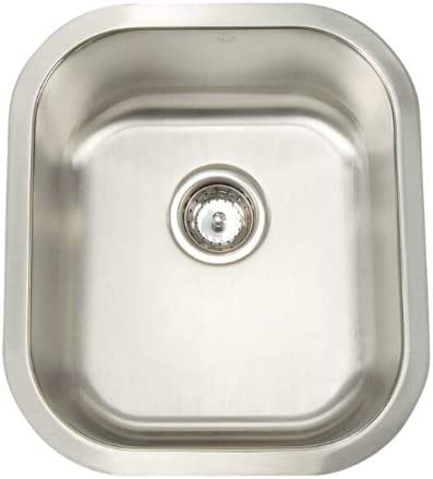 Artisan AR 1618 D8-D Premium Collection 16-Gauge 16-Inch Undermount Single Basin Stainless Steel Bar Sink