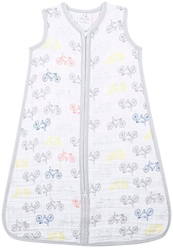 aden + anais Classic Sleeping Bag; 100% Cotton Muslin; Wearable Baby Blanket; Leader of the Pack; Extra Large; 18+ Months
