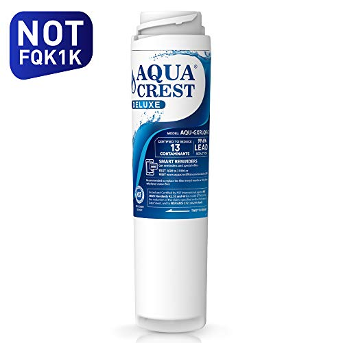 (AQUACREST NSF 401,53&42 Replacement GXRLQR Inline Water Filter, Compatible with GE SmartWater Twist and Lock In-Line GXRLQR - Reduces Lead, Chlorine, Taste&Odor, Cyst, Benzene and)