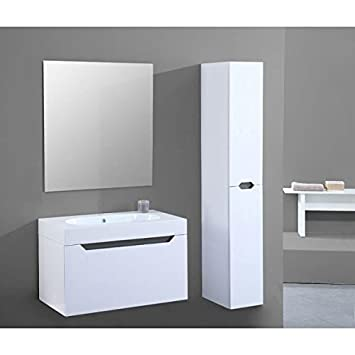 Malo Set Salle De Bain Gris Amazon Fr High Tech