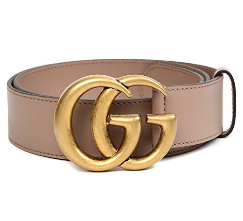 Wiberlux Gucci Men's GG Buckle Real Leather Strap Belt