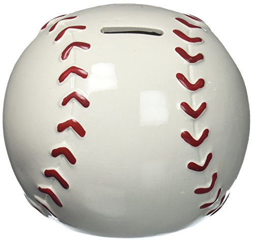 (Baseball Shape Piggy Bank for Saving Money and Sports Room Decor)