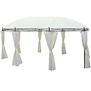 Backyard Gazebo Party Tent with Roof Canopy Curtains