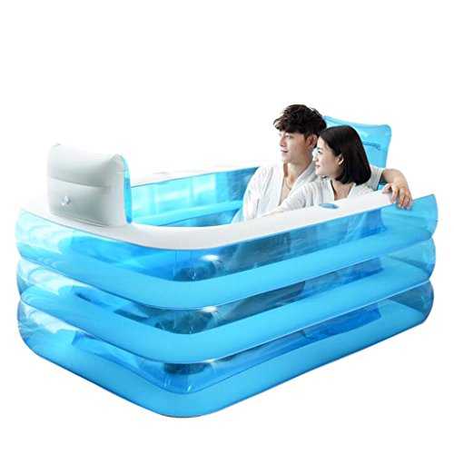 Bañeras Jacuzzis de Hidromasaje Inflable para Adultos para el hogar con Estilo cómoda Plegable Inflable para Dos Personas...