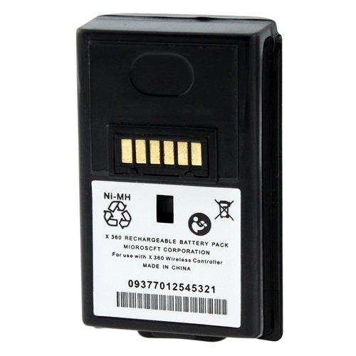Para MICROSOFT XBOX 360 Control Mando Negro Bateria Negra ...