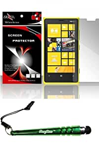 FoxyCase(TM) FREE stylus AND For Nokia Lumia 920 (AT&T) - Mirror Screen Protector Case Cover cas couverture