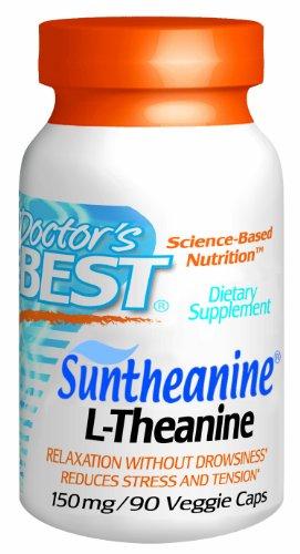 Meilleures médecin Suntheanine L-Théanine 150mg Capsules végétales (), 90-Count