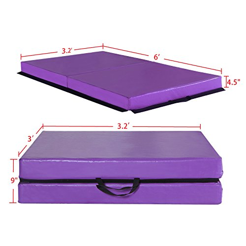 new panel off fitness savings exercise here mat thick mats are gymax shop folding gymnastics blue