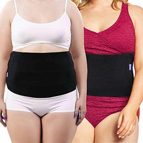 (Everyday Medical Plus Size Post Surgery Abdominal Binder I Bariatric Stomach Wrap I Hernia Support for Women and Men I Obesity Girdle great for Liposuction, Postpartum, C-section, Hernia-Size Wide 2XL)