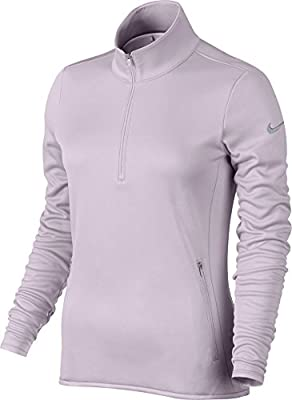 Nike Thermal 1/2 Zip Golf Pullover 2015 Womens Bleached Lilac/Wolf Grey X-Small