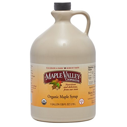 Maple Valley 128 Oz. (Gallon) Organic Maple Syrup - Grade A Dark & Robust (formerly Grade B) Dark Energy Gallon