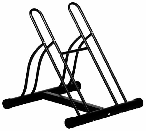 Ever Concept 2-Bike Floor Stand, Black Tubular Steel by Ever Concept