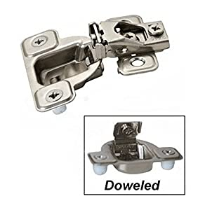 Salice 9/16 Overlay Face Frame 3 Cam Dowels (4 Hinges) - - Amazon.com