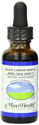 Maxi Health Black Cohosh Root and Dong Quai Root Extract - Women's Formula - 1 Ounce Bottle - Kosher Liquid Menopause Formula