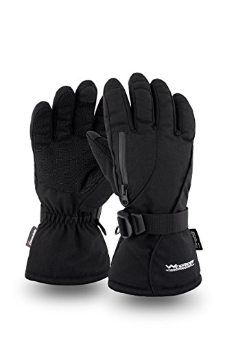 Rugged Waterproof Winter Gloves - Touch Screen Compatible - Cordura Shell, Thinsulate Insulation - Great for Ice Fishing, Skiing, Sledding, Snowboard - for Men or Women ()