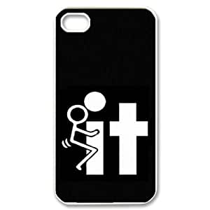 wugdiy Custom Case for iPhone 4,4S with Personalized Design Fuck
