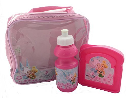 Tinkerbell Disney Fairies Girl's 3 Piece Lunch Bag