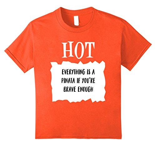 Kids Taco Hot Sauce Halloween Costume Pinata Funny T shirt 12 Orange