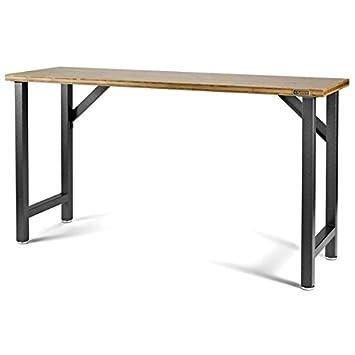 RELOOKING GARAGE-Mesa regulable 169 cm de bambú 2 módulos Puede ...