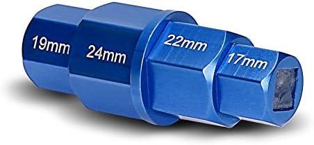 Motorrad Innensechskant Steckachsen Nuss 17-19-22-24 mm blau