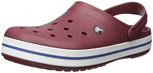 6ms Mules Femme Rouge Crocband White Garnet Marron Crocs U wfqUH44