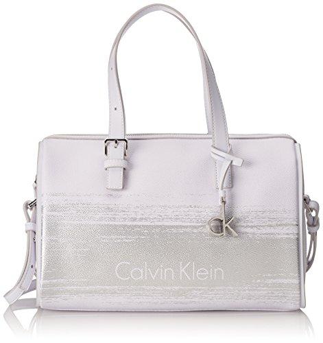Melissa Blanco Mujer Duffle Bolso Klein Brushed Para plateado Calvin RxwqP6aq