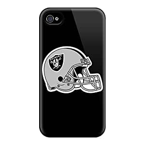Scratch Resistant Cell-phone Hard Covers For Apple Iphone 4/4s (LlJ4916OKEp) Support Personal Customs Trendy Oakland Raiders Image