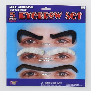 Forum Novelties Eyebrow Set, -