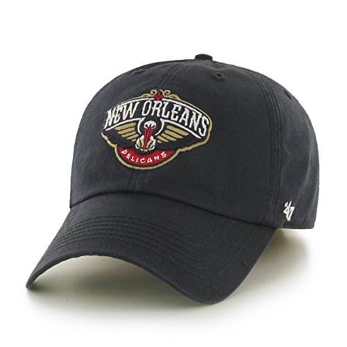 NBA New Orleans Pelicans Franchise Fitted Hat, Medium, Black - University New Orleans Basketball