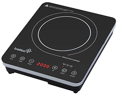 Countertop Induction Burner Reviews : Ivation 1800 Watt Portable Induction Cooktop Countertop Burner, Easy ...