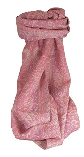 Muffler Scarf 4743 in Fine Pashmina Wool from the Heritage Range by Pashmina & Silk by Pashmina & Silk (Image #4)
