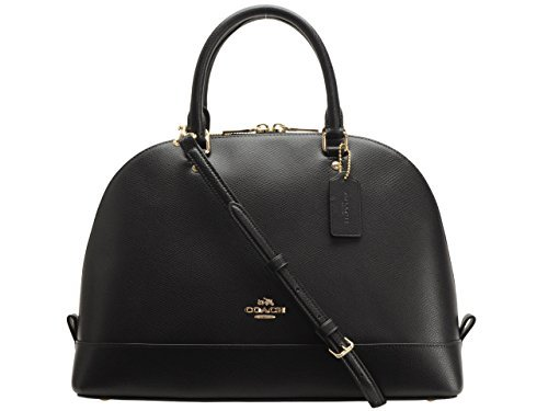 Coach Crossgrain Sierra Satchel - Black , Medium