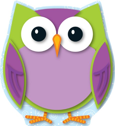 Colorful Owl Cut-Outs Carson Dellosa Pub Co Inc 120133 Education General