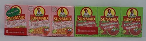 Variety Pack - Sun Maid Golden Raisins - (6 oz) Sour Strawberry, Sour Watermelon