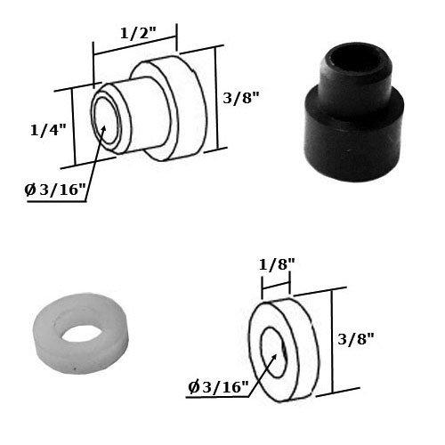 (Shower Door Nylon Bushing and Washer Kit for Framed Pivot Shower Doors)