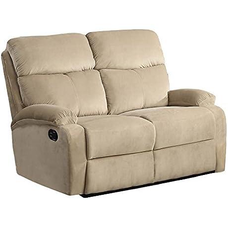 ACME Furniture 53896 Mayborn Recliner Loveseat Sand Velvet