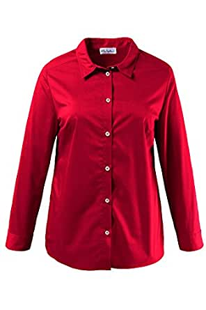 Ulla popken women 39 s plus size no iron button down shirt blouse 700634 at amazon women s clothing - How to unwrinkle your clothes with no iron ...