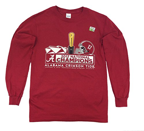 National Champions Tee (The Victory Alabama Crimson Tide 2017 National Champs Long Sleeve Tee-xxxl)