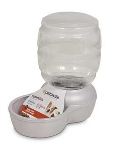 Petmate Replenish Pet Gravity Feeder with Microban, 10-Pound Capacity, Pearl White, My Pet Supplies