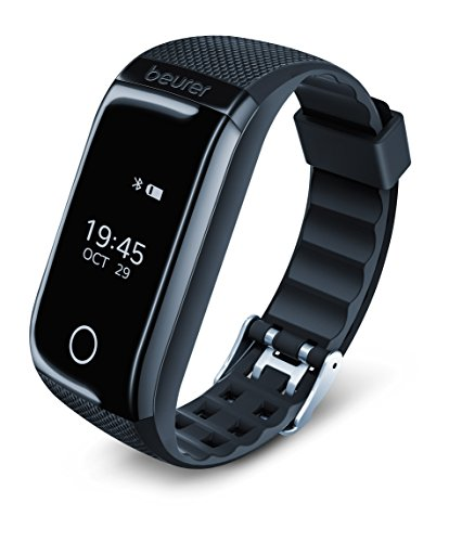 Beurer, AS 97 Activity Tracker and Fitness Wristband with Heart Rate Monitor, Activity Sensor, Sleep Analysis, Step Counter, Motion Reminder and App