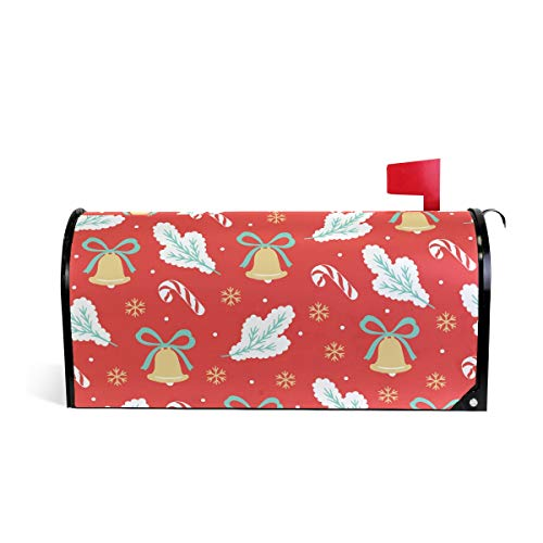 Magnetic Mailbox Cover Christmas New Year Bells Snowflake Tree Branches Mail Wraps Cover Letter Post Box 25.5